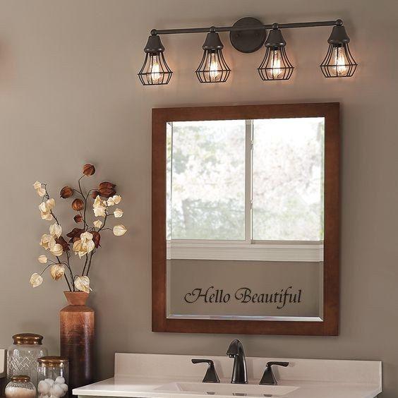 You Look Amazing Mirror Decal Bathroom Vanity Decor Rustic Bathroom Lighting