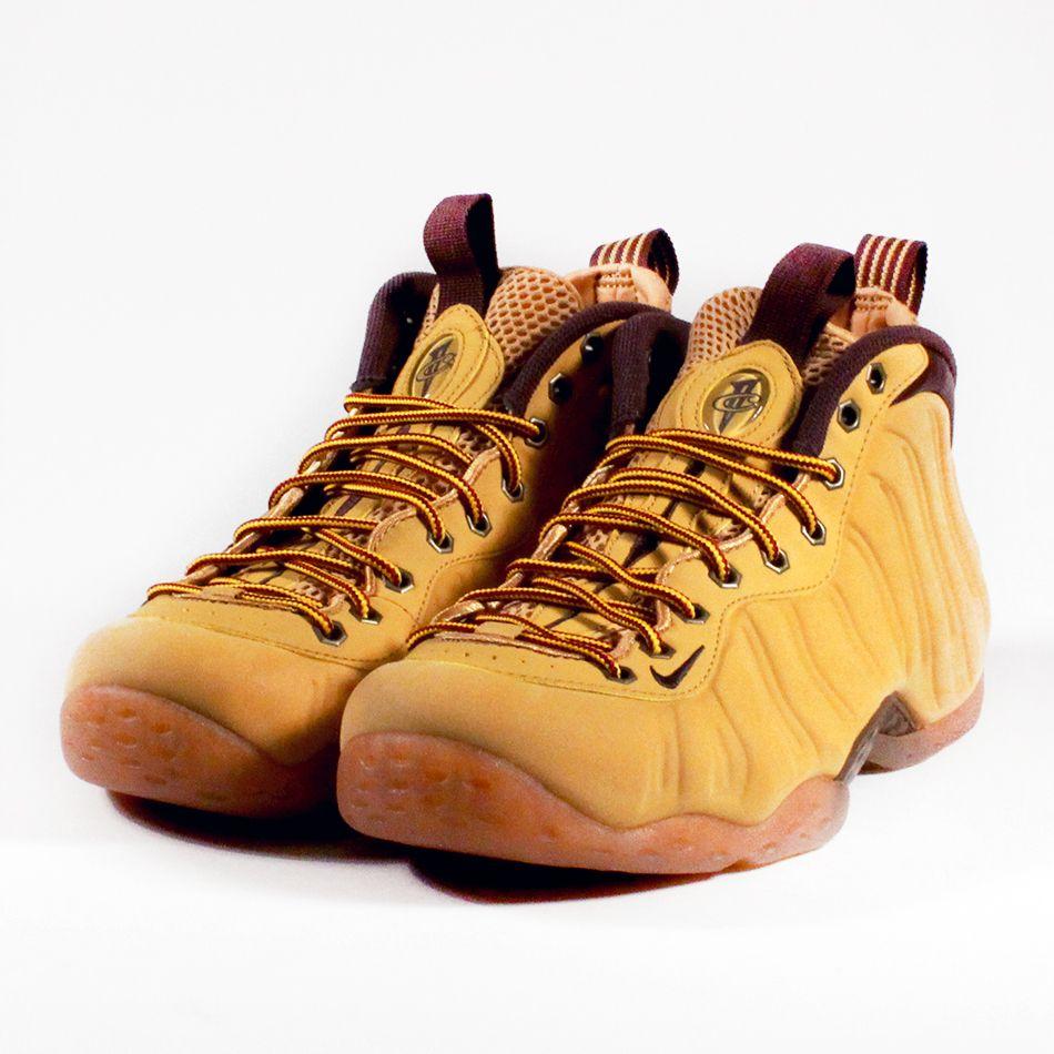133d59d42304d Nike Foamposite in a boot inspired wheat look.