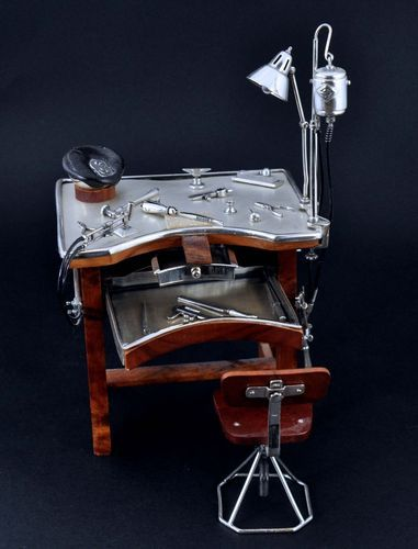 Jewelers Work Bench In Sterling Silver And Natural Wood