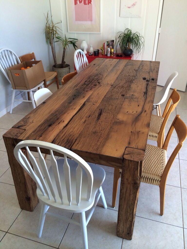 White Oak Threshing Floor Farm Table Decoracion Hogar Reciclaje
