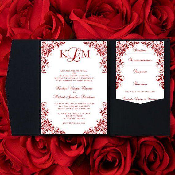 Pocketfold Wedding Invitations \