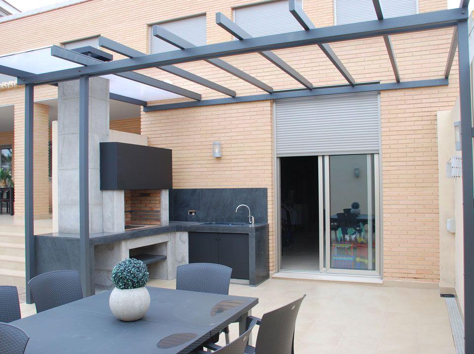 Pin de ana lorenzo en cocinas exterior pinterest - Barbacoas para terrazas ...