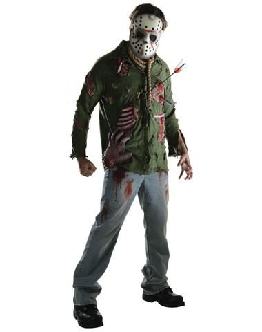Friday the 13th Jason Deluxe Adult Mens Costume Costuming - scary halloween costume ideas 2016