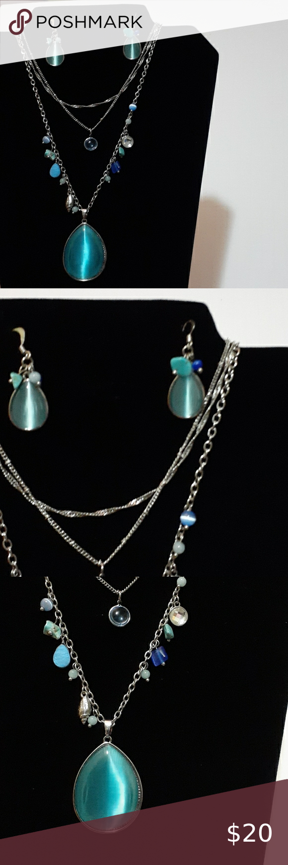 Christopher & Banks Jewelry Matching Necklace & Earring Set Christopher & Banks Jewelry Necklaces