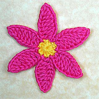 six petal flower size larger pattern by edgar gonzalez garo