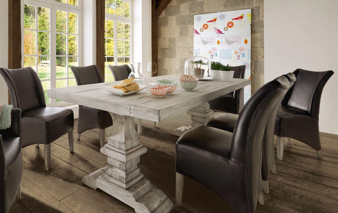wer vintage stil m bel liebt kommt am esstisch chateaux nicht vorbei massive wildeiche mit. Black Bedroom Furniture Sets. Home Design Ideas