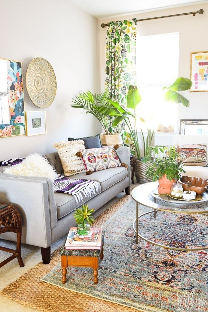 39 Amazing Bohemian Living Room Decoration Ideas This Spring images
