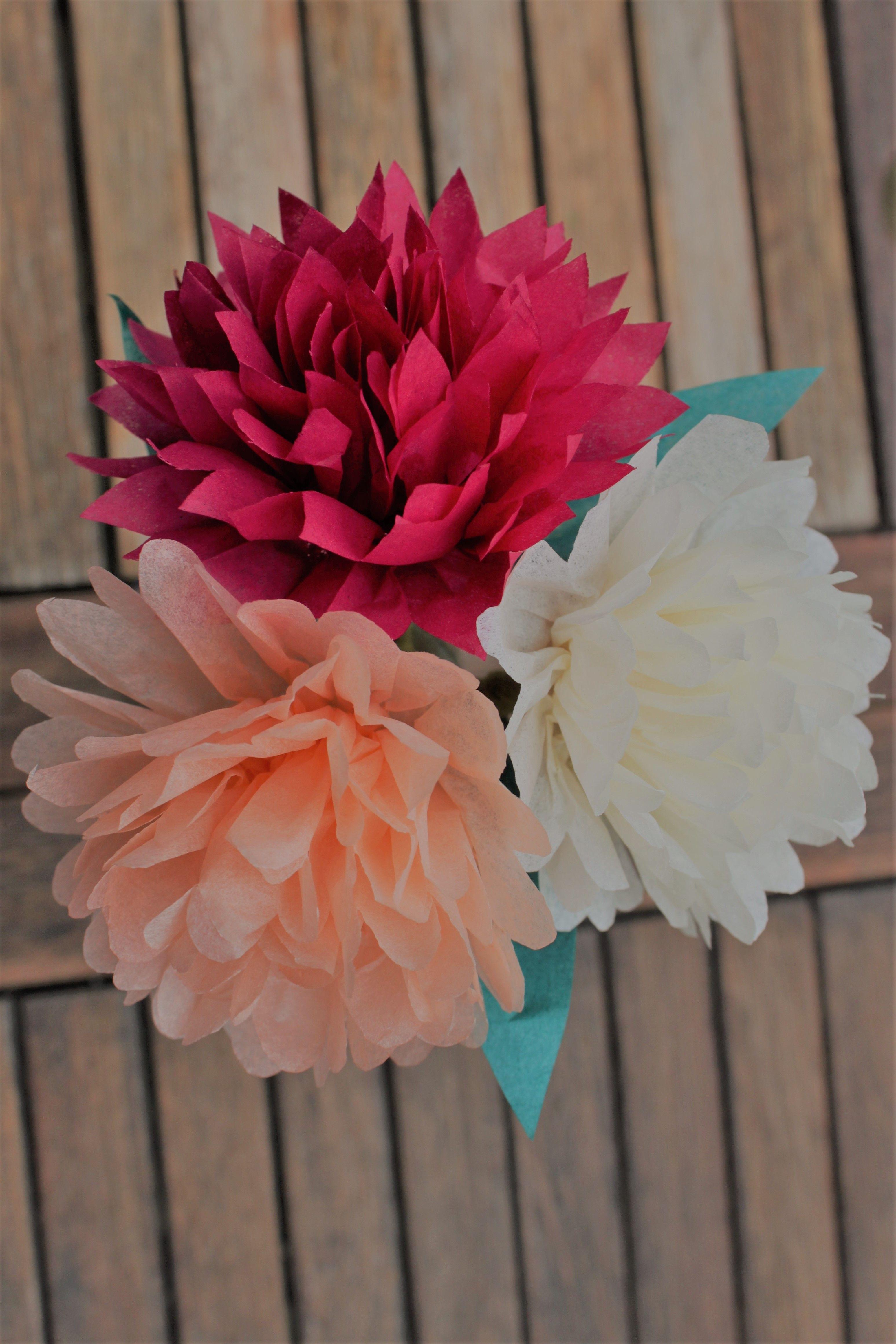 Tissue paper flower centerpiece bouquet aisle chair decorations tissue paper flower centerpiece bouquet aisle chair decorations wedding papplewick woods izmirmasajfo