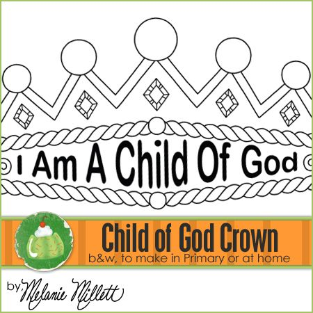 Church coloring pages i am a child of god crown black for I am a child of god coloring page