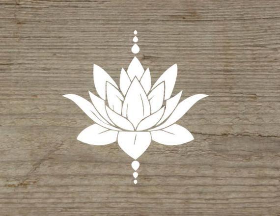 Lotus Flower Lotus Flower Decal Meditation Decal Yoga Decal Natural Lotus Decal Mandala Decal Car Decal Yoga Inspired Lotus Sticker Lotus Flower Tattoo Design Lotus Tattoo Design Lotus Flower Drawing