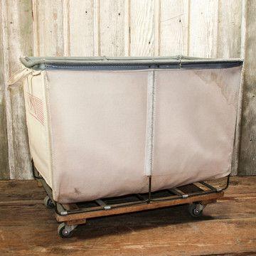 Vintage Canvas Laundry Cart 189 Reminds Me Of A Prison Laundry