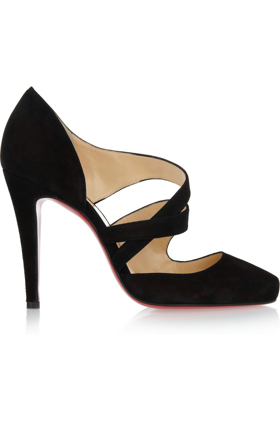9bddc8849367 Christian Louboutin Black Suede Pumps fit for a winning woman - classy