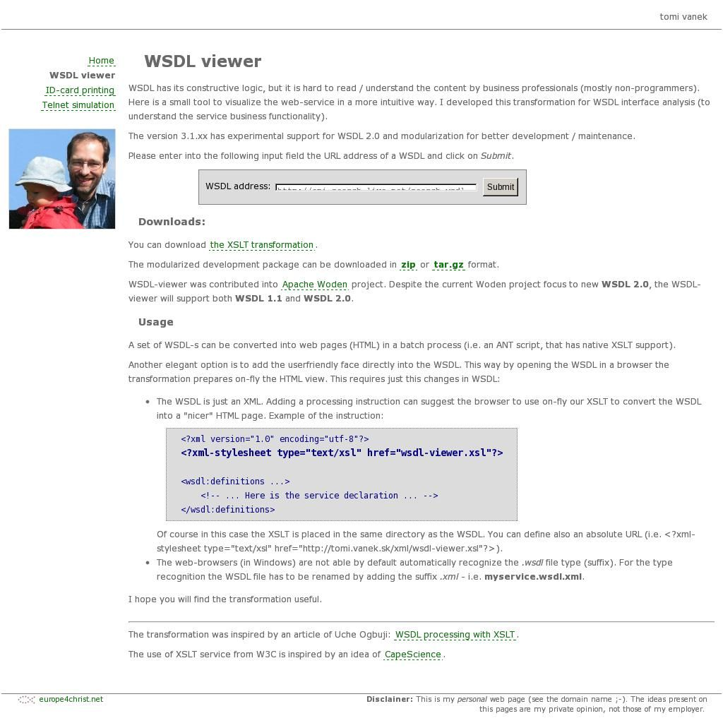 WSDL viewer -- A small and easy tool to visualize a web