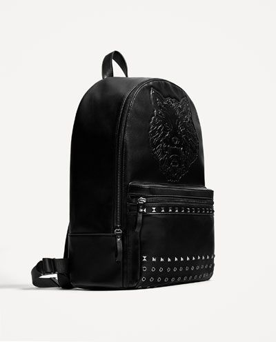1f015ca6e4 EMBOSSED AND STUDDED BACKPACK-BAGS-MAN-COLLECTION AW/17 | ZARA Egypt ...