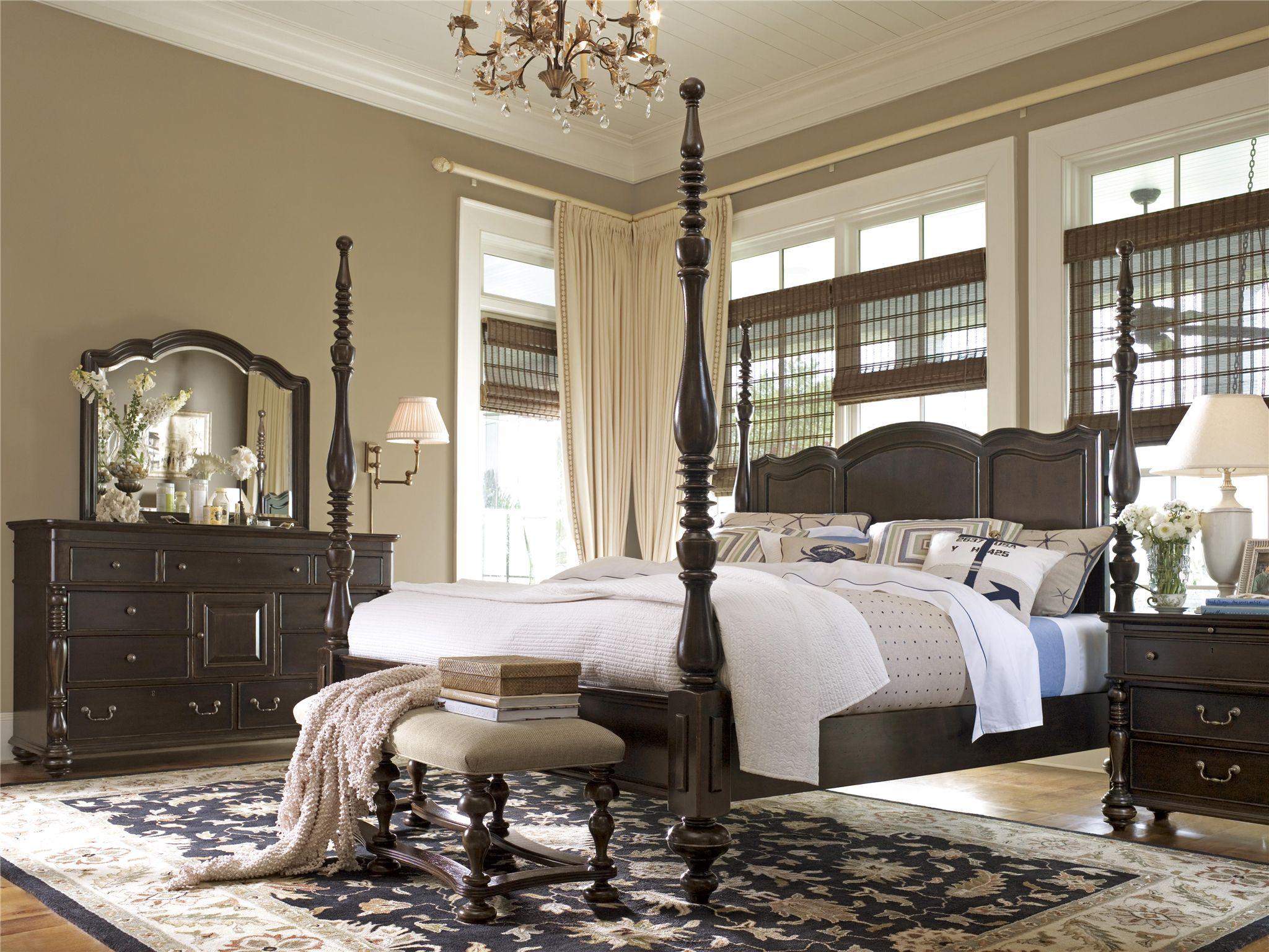 Universal Furniture | Paula Deen Home | Savannah Poster Bed (Queen)
