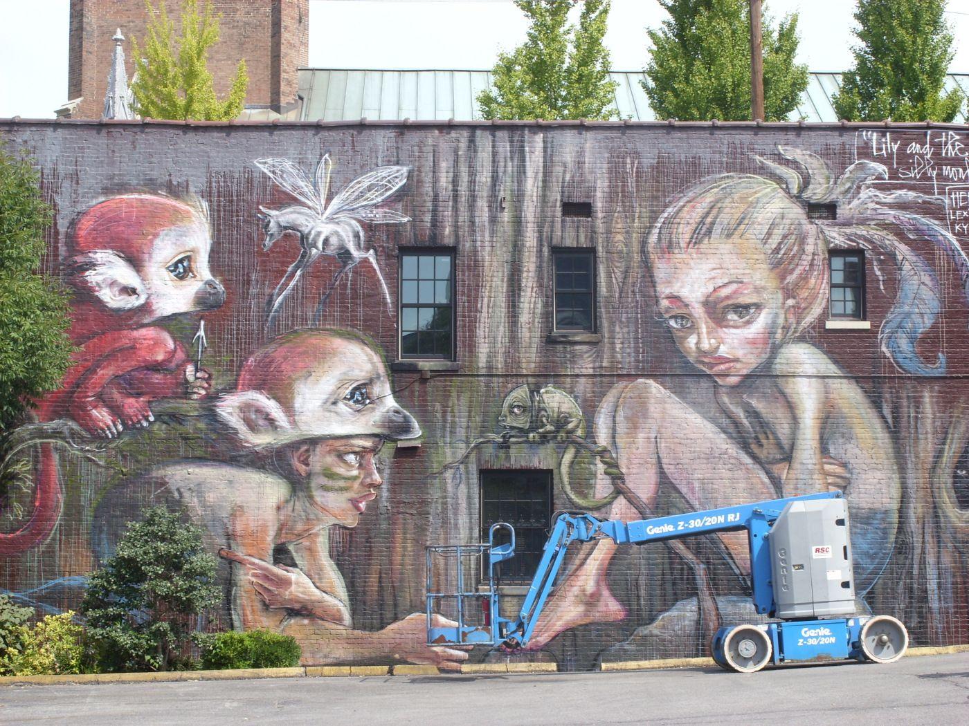 Herakut In Lexington Ky Street Art Art Kentucky