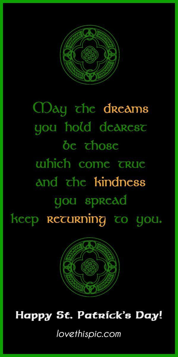 Happy St. Patrick's Day! Irish quotes, Inspirational