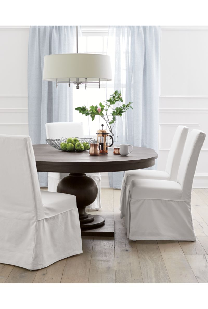 Slip White Slipcovered Dining Chair | Dining chairs, Crates and Barrels