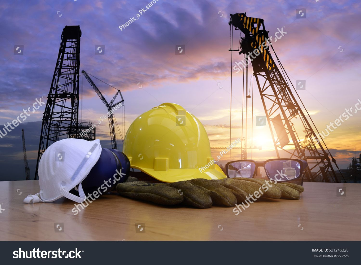 Standard construction safety and construction site