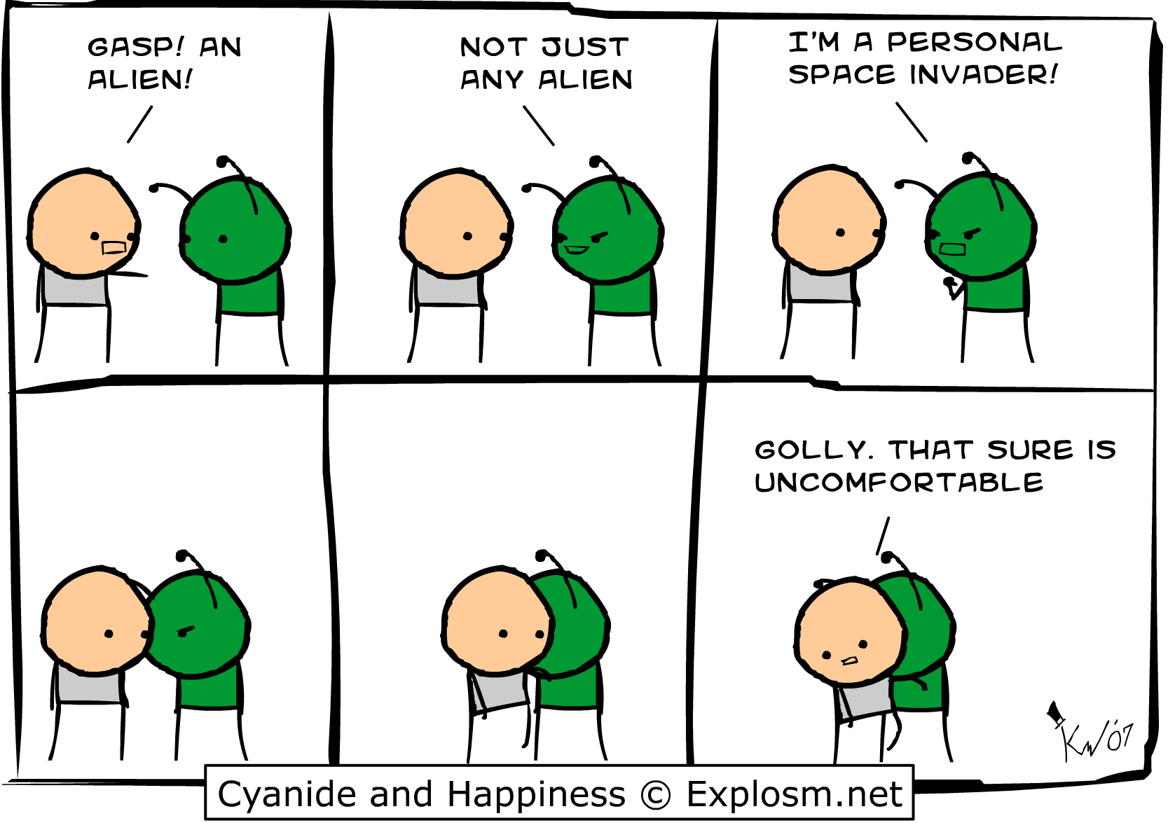 Personal Space Invader Cyanide And Happiness Funny Comics Cyanide And Happiness Comics