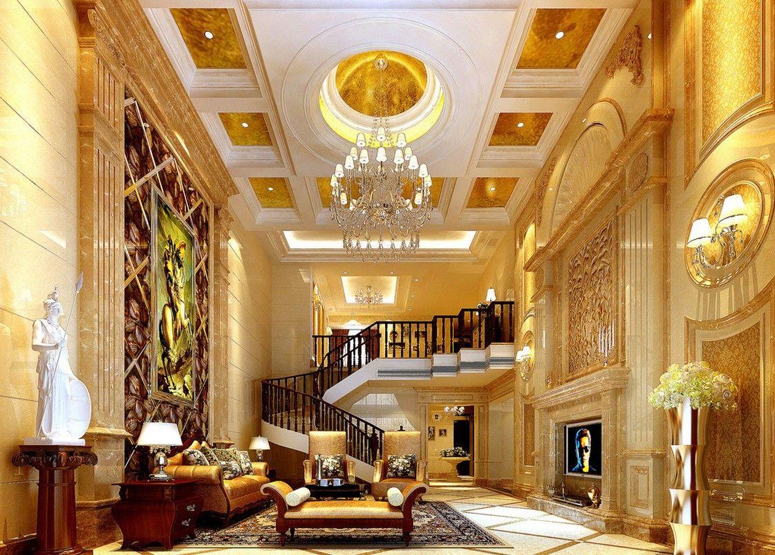 astounding 3d luxury living rooms | European luxury villa living room designs image | Rich ...