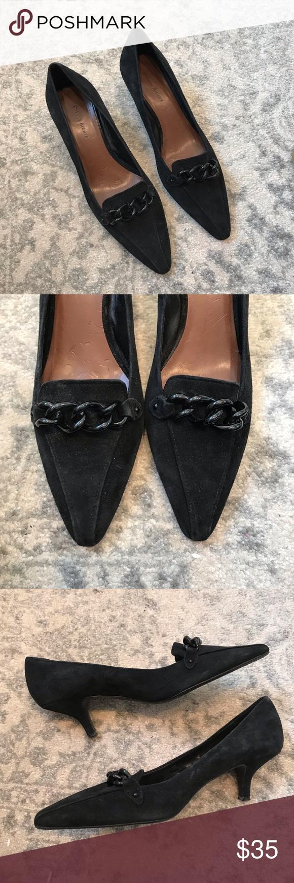 Etienne Aigner Suede Michelle Kitten Heel Pump Kitten Heel Pumps Kitten Heels Black Pumps Heels