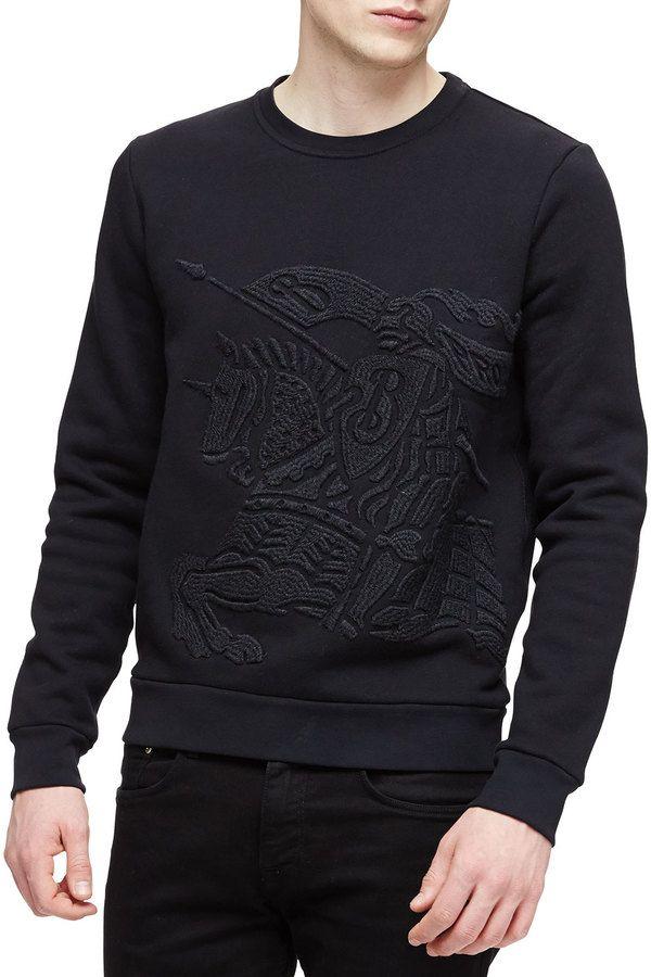 d1648776c0e Burberry Brit Equestrian Knight Crewneck Sweatshirt
