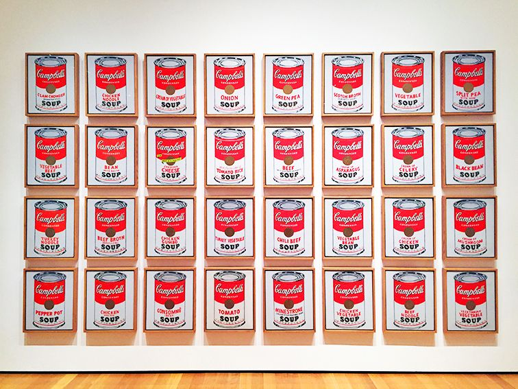 Andy Warhol Campbells Soup Cans At Moma Andy Warhol Still Life Painting Still Life Artists