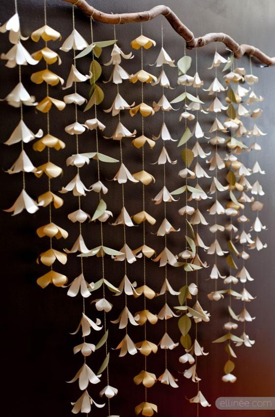 DIY Wedding Crafts : DIY Paper Flower Garland Backdrop
