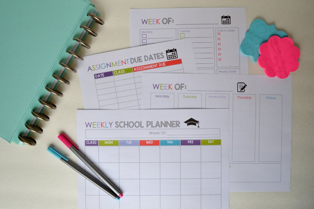 College Student Planner Printables Letter by MamasGotItTogether