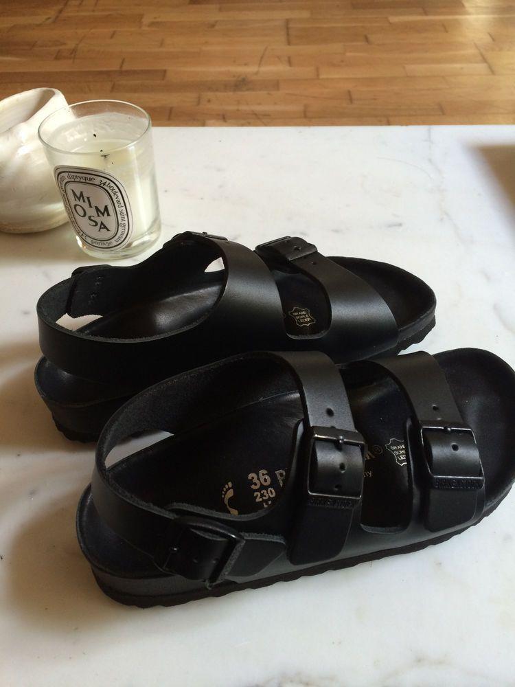 b01ec66243e Birkenstocks- All Black Milano Exquisite size 36 SOLD OUT