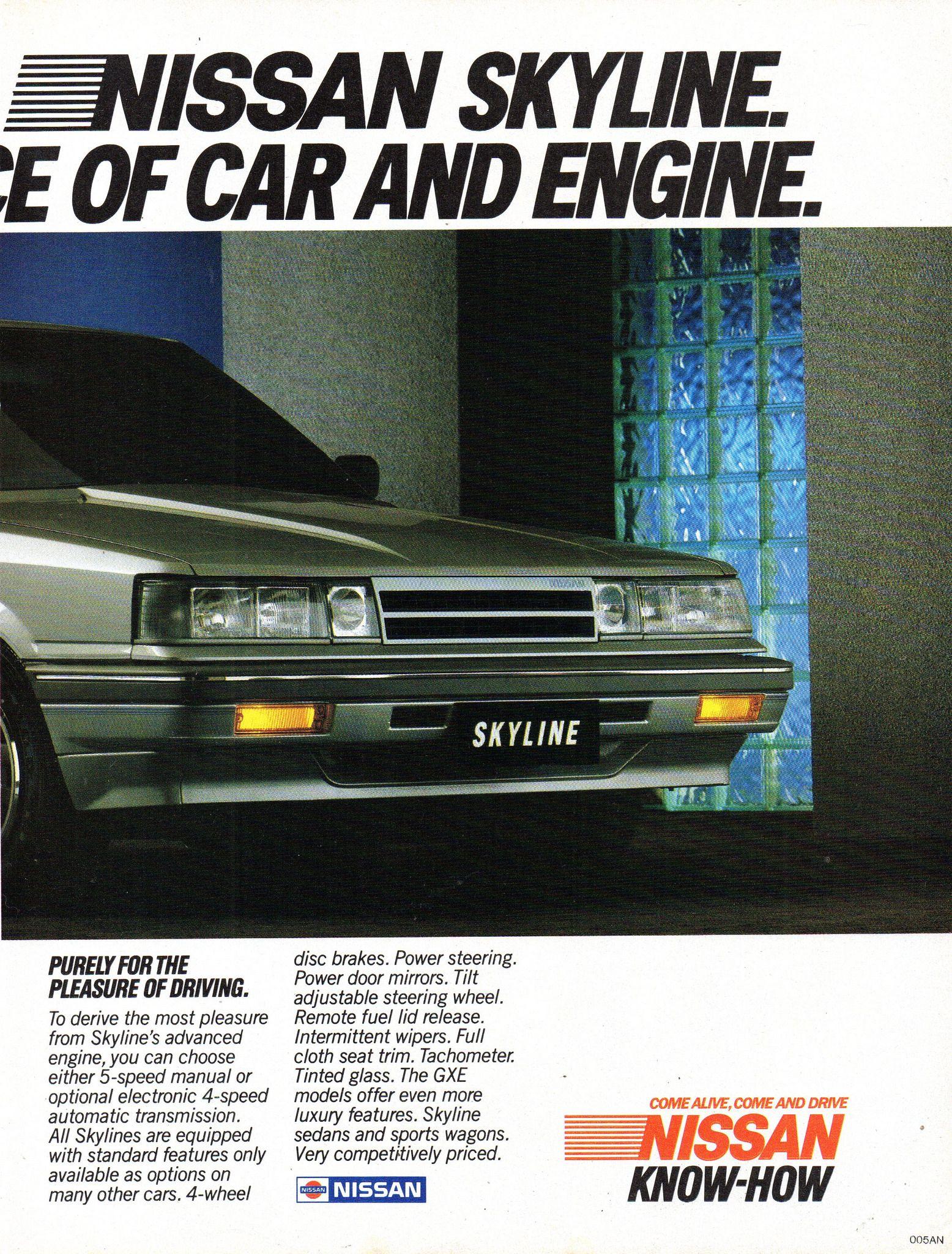 1986 Nissan Skyline Gxe Sedan R31 Page 2 Aussie Original Magazine Advertisement Nissan Skyline Nissan Nissan Cars