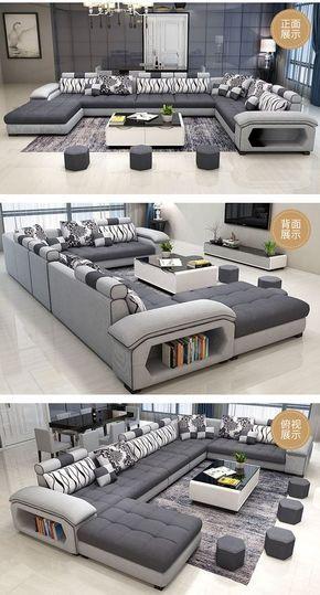 1189.0US $  new arrival modern design u shaped sectional 7 seater fabric corner sofa Living Room Sets    - AliExpress