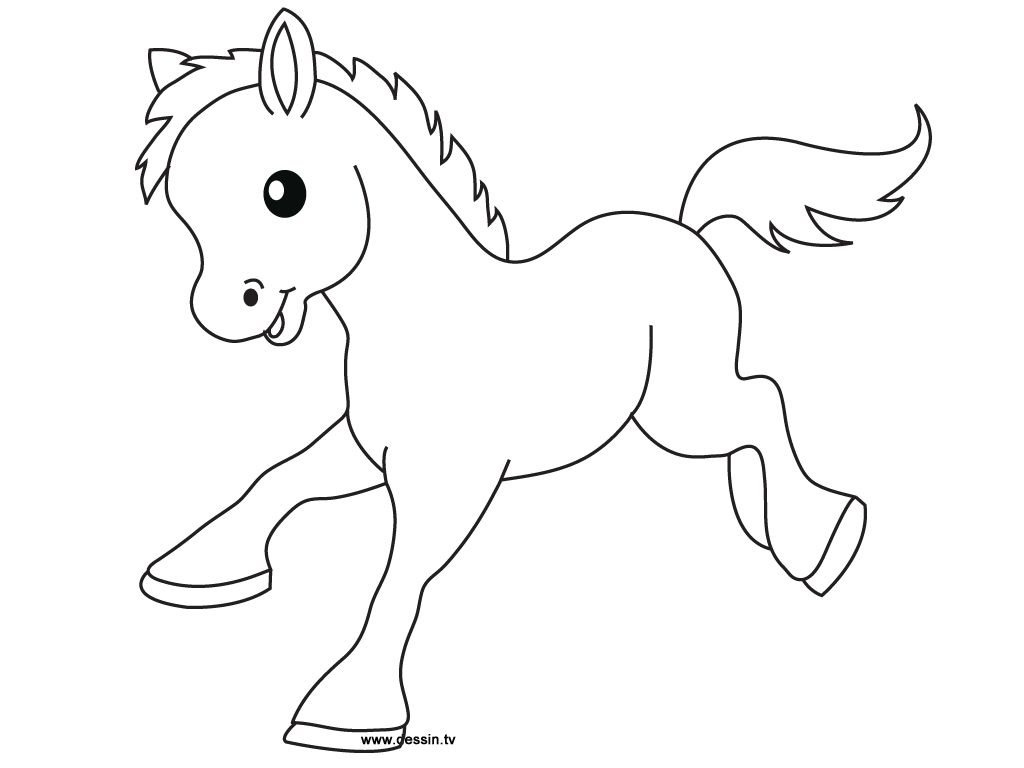 Explore Coloring Pages For Kids And More Horse Template