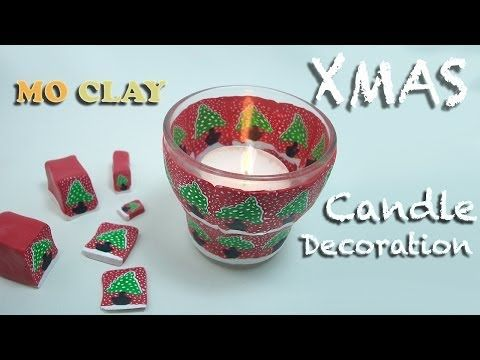 ▶ Diy Holiday Decor - Christmas Candle holder using Christmas Tree Canes by MoClay