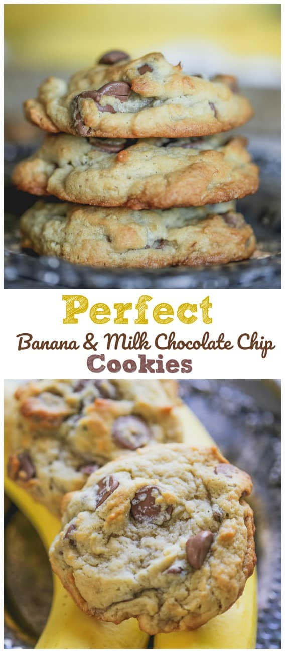 Perfect Banana Milk Chocolate Chip Cookies
