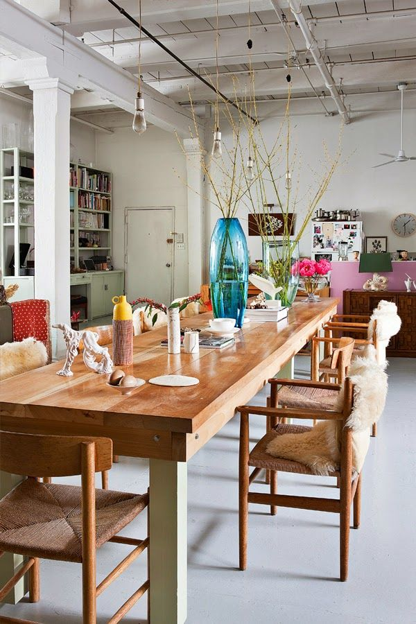 Loft in Dumbo, Brooklyn - New York. Martin Bourne, styliste d'intérieur et Leilin Lopez, styliste de mode