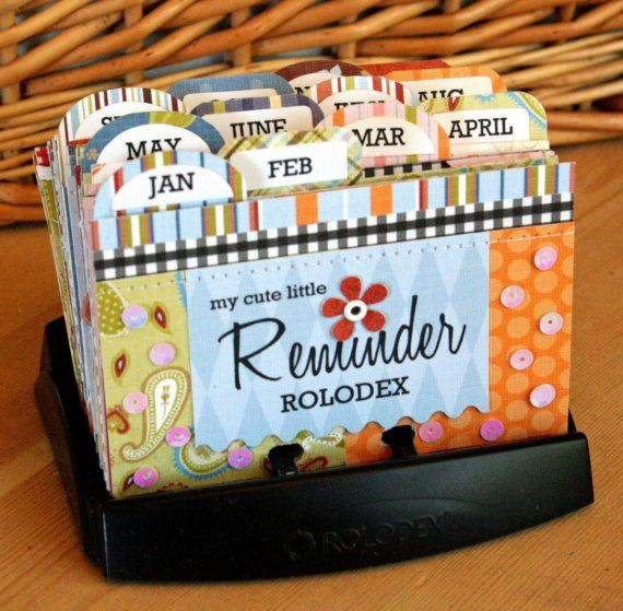 cute little reminder rolodex album kit