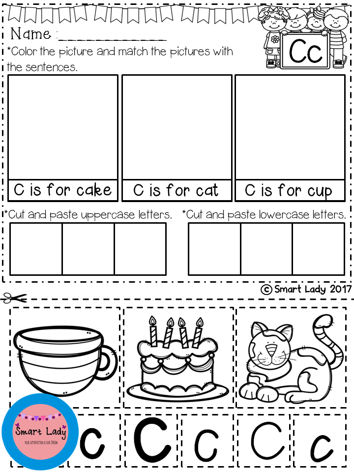 Free Alphabet Cut And Paste Set  Your Students Will Have Fun