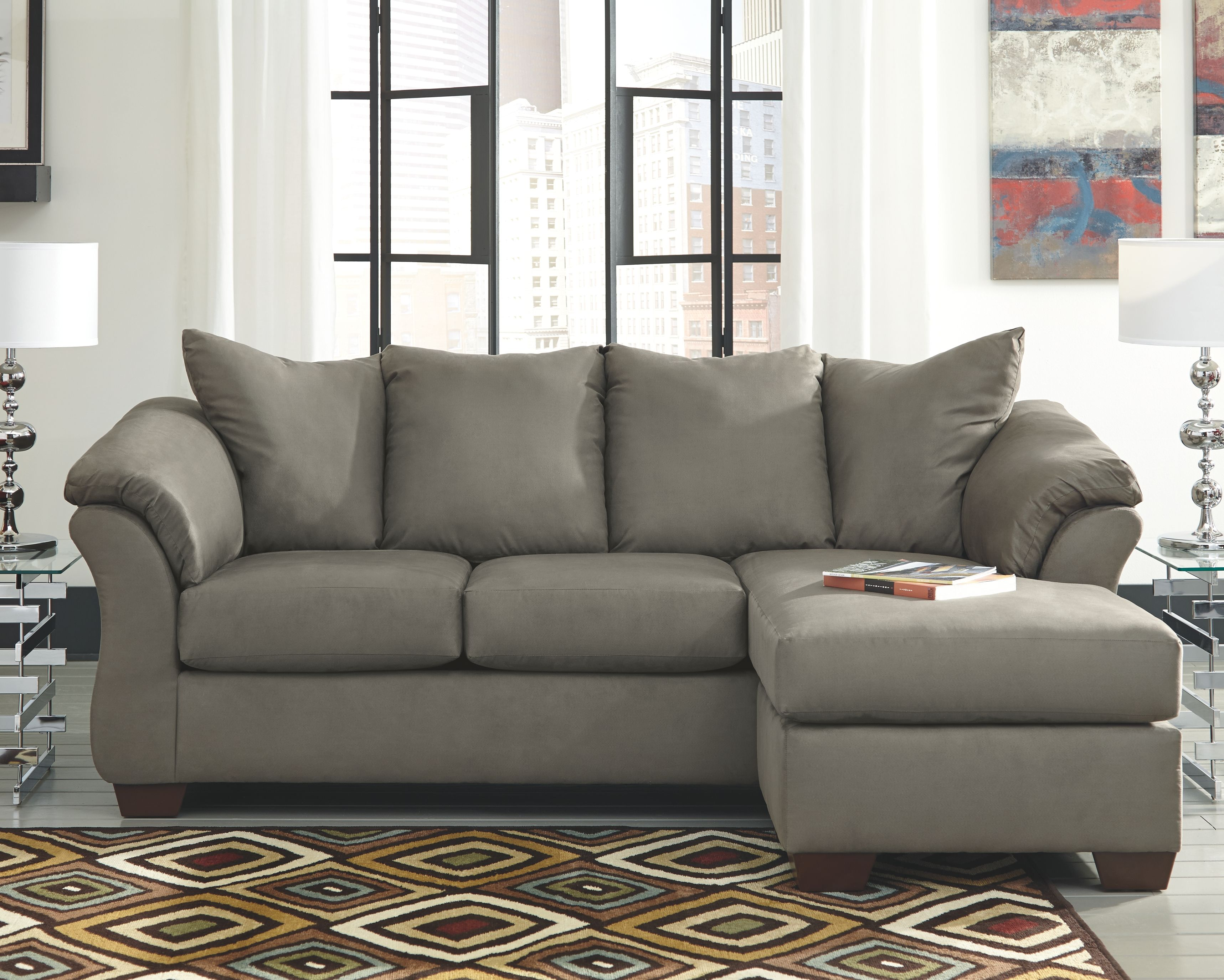 Darcy Sofa Chaise Cobblestone Sectional Sofa With Chaise