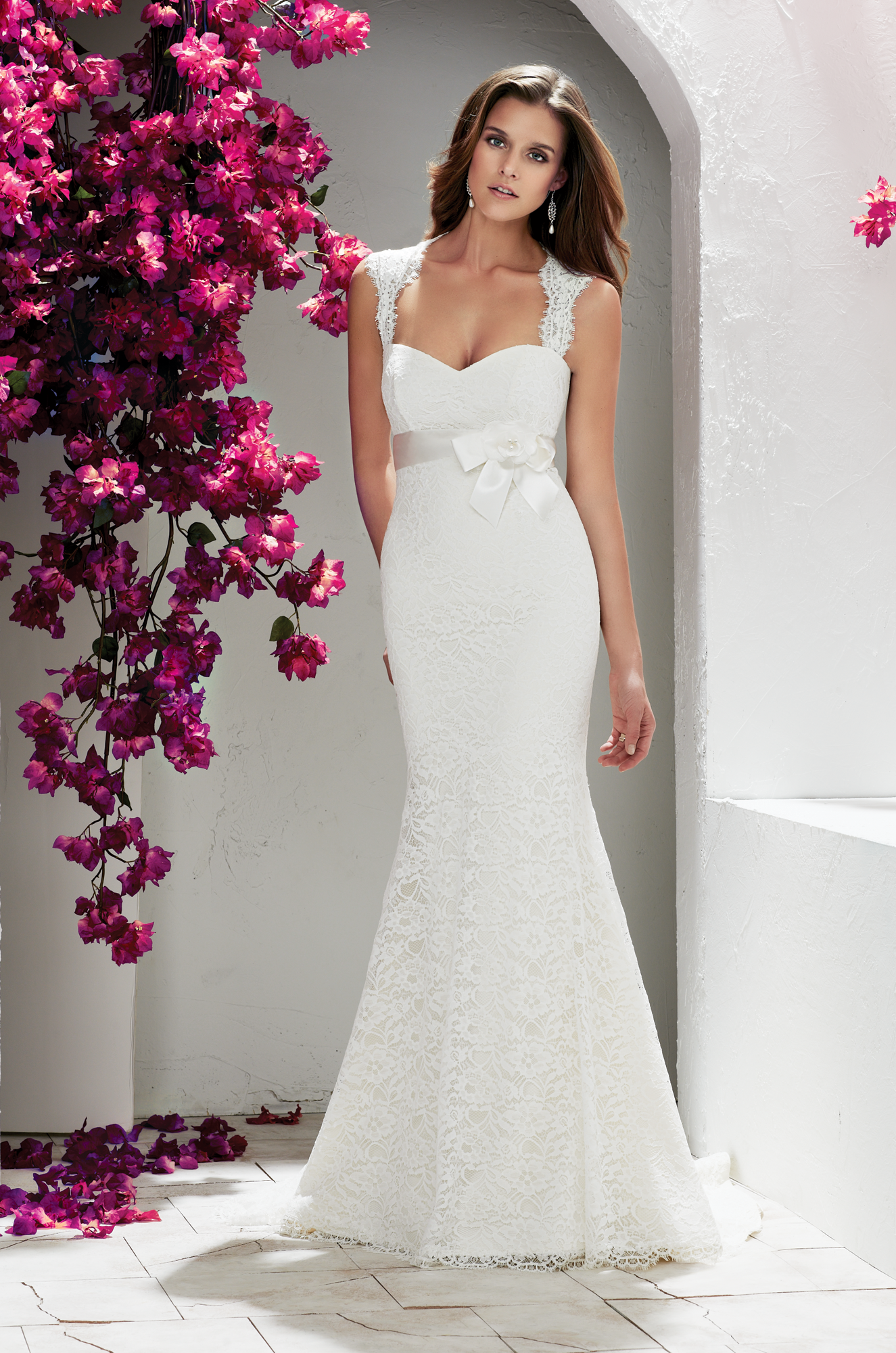 Lace wedding dress designers    Mikaella Bridal they have this designer at the White Magnolia