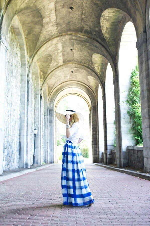 We love the blue skirt!