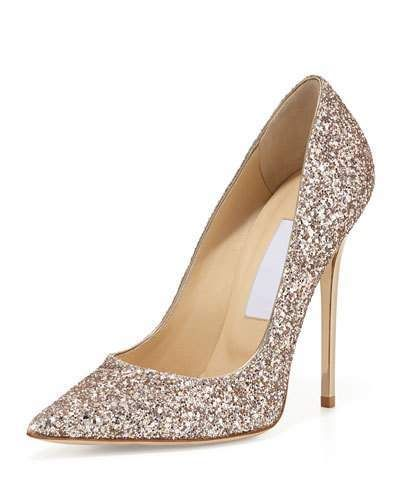 148cb98181fd Jimmy Choo shadow coarse glitter fabric leather pump. 4