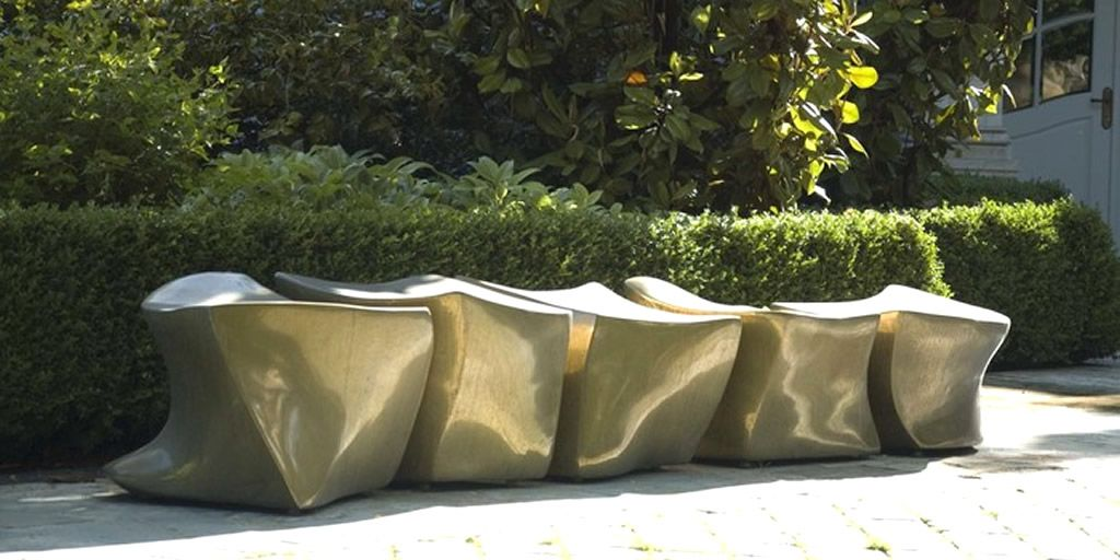 Outdoor Furniture Design of Bronze Spine L5 Bench by Marie Khouri « United  States Design Images, Photos and Pictures Gallery « Designers Raum - Outdoor Furniture Design Of Bronze Spine L5 Bench By Marie Khouri