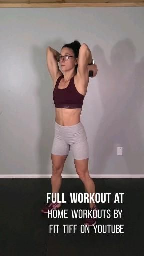 At home upper body workout with dumbbells