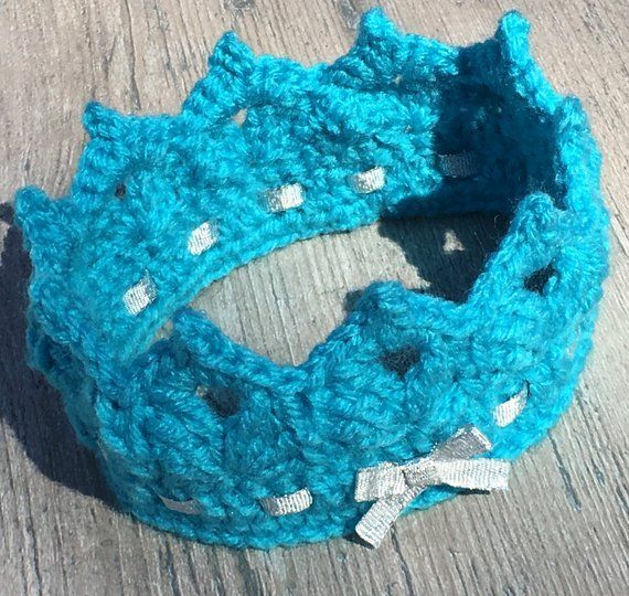Baby Crown Crochet Pattern/ Princess or Prince Crown/ Tiara/ Crochet Baby Headband #crownscrocheted Baby Crown Crochet Pattern/ Tiara Crochet Pattern/ Crown #crownscrocheted