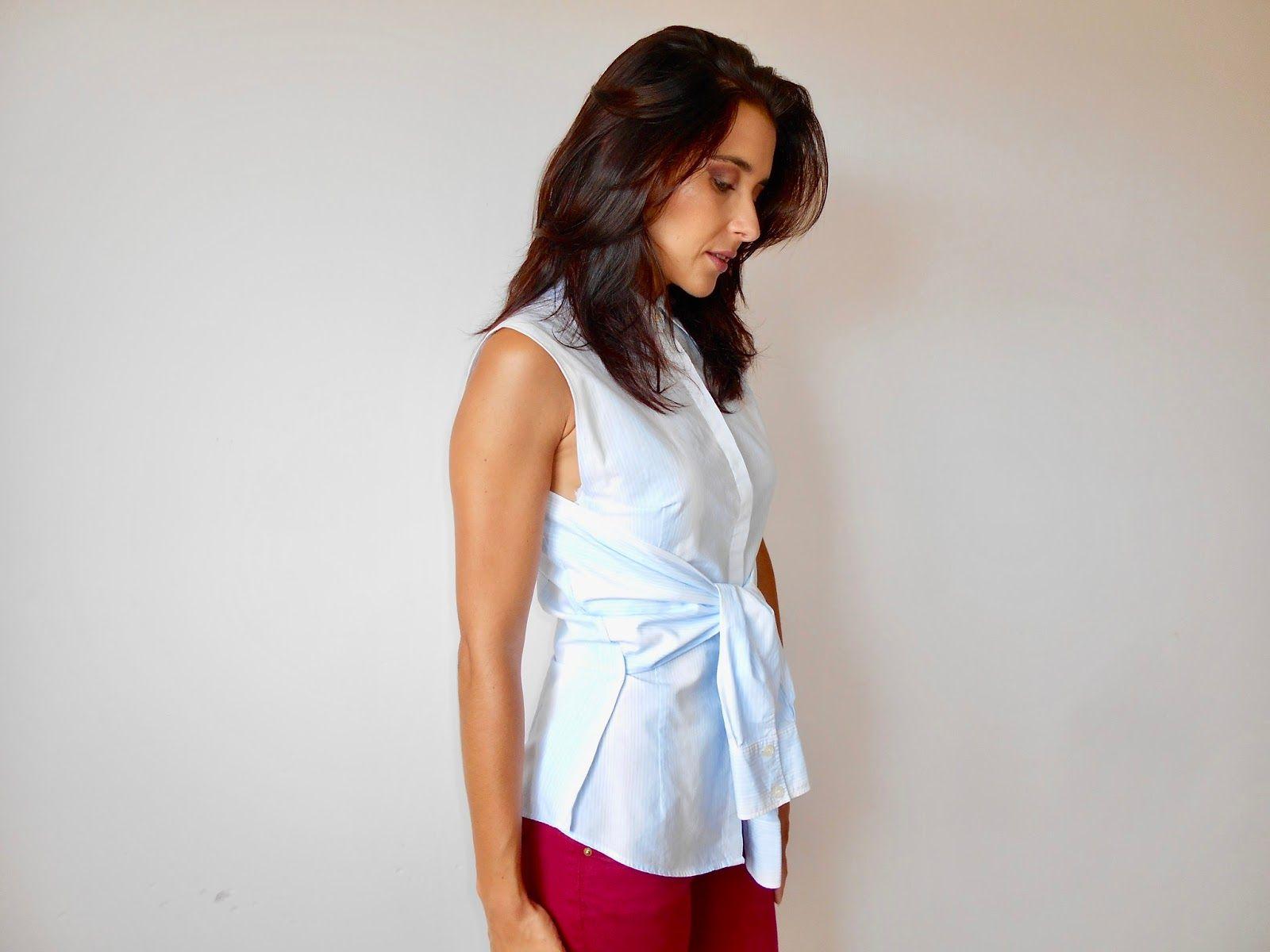 Zara & Pinterest inspired wrap shirt | B. Blue DIY