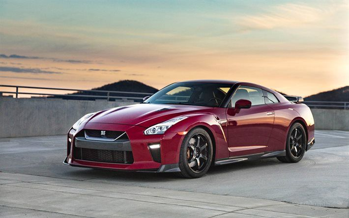 Download Wallpapers Nissan Gt R Track Edition 2017 Tuning