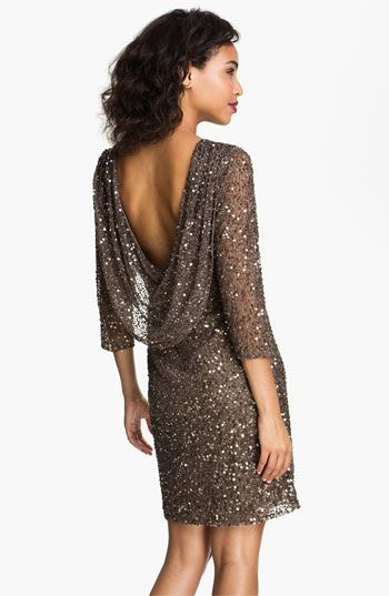 Pisarro Nights Cowl Back Sequin & Bead Dress | Nordstrom