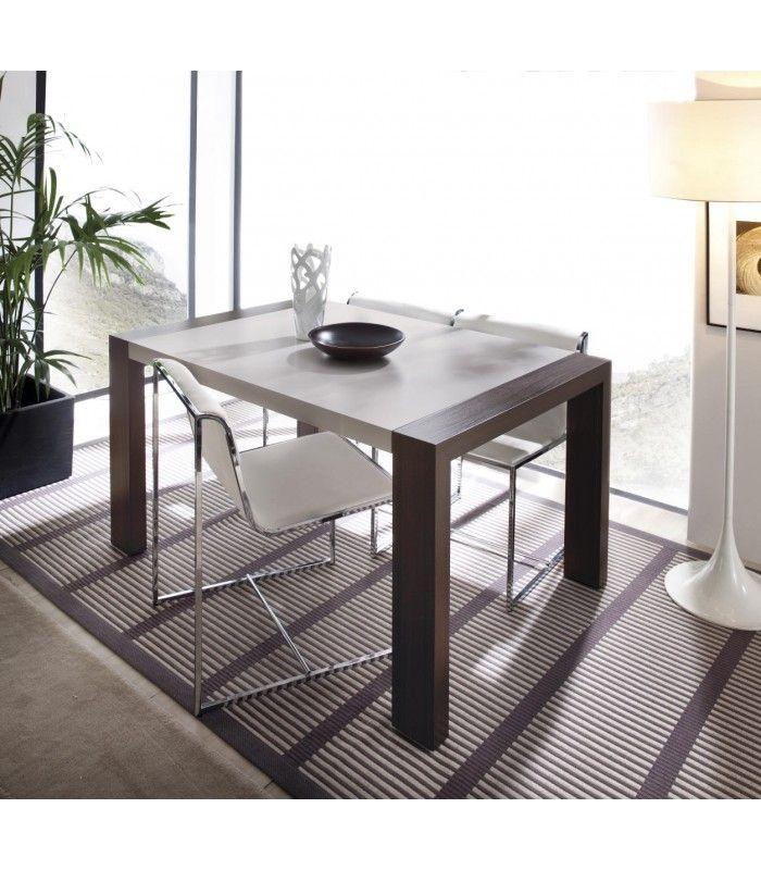 mesa de comedor extensible con pata deslizante estilo